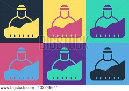 Pop Art Growth Of Homeless Icon Isolated On Color Background. Homelessness Problem. Vector