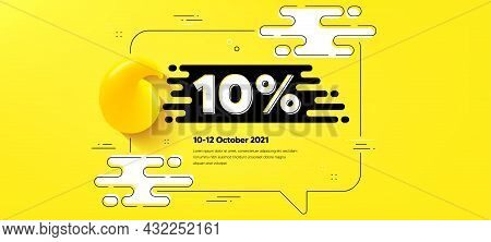 10 Percent Off Sale. Quote Chat Bubble Background. Discount Offer Price Sign. Special Offer Symbol.