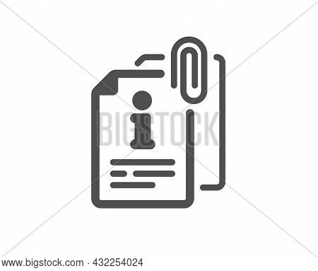 Attached Info Icon. Information Guide Sign. Attachment File Symbol. Classic Flat Style. Quality Desi