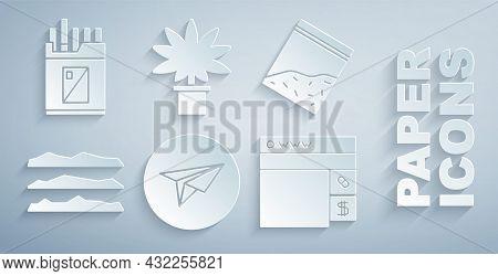 Set Messenger, Plastic Bag Of Drug, Cocaine Or Heroin, Buying Drugs Online, Marijuana Cannabis Plant