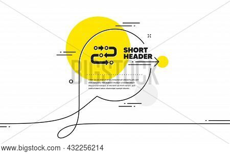 Methodology Icon. Continuous Line Chat Bubble Banner. Development Process Sign. Strategy Symbol. Met