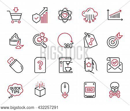 Vector Set Of Business Icons Related To Confirmed Mail, Night Cream And Unknown File Icons. Online M