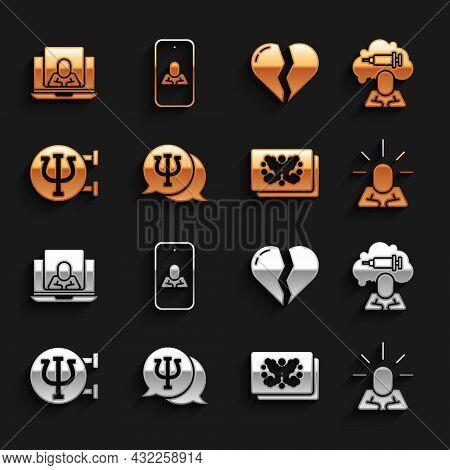 Set Psychology, Psi, Addiction To The Drug, Depression, Rorschach Test, Broken Heart Divorce, Psycho