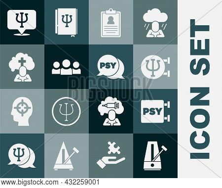 Set Metronome With Pendulum, Psychology, Psi, Medical Clipboard, Users Group, Man Graves Funeral Sor