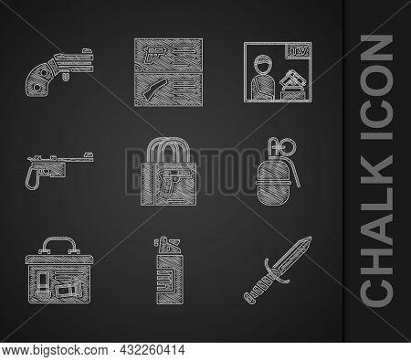 Set Buying Gun Pistol, Weapons Oil Bottle, Military Knife, Hand Grenade, Ammunition Box, Mauser, Adv