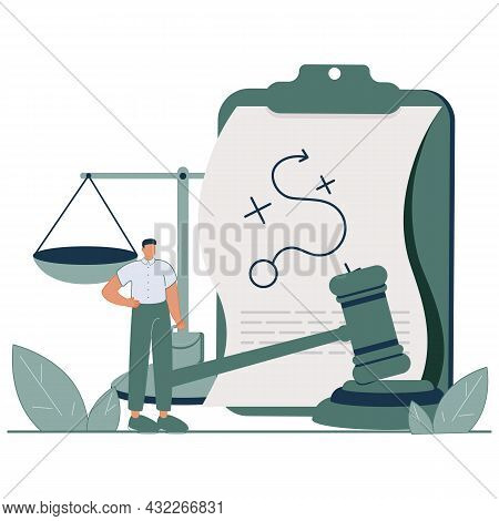 Legal Outsourcing Abstract Concept Vector Illustration. Litigation Support, Legal Research, Paralega