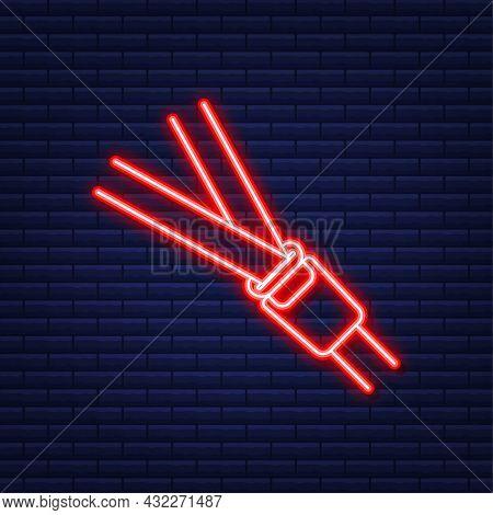 Seat Belt. Safety Belt Of Movement On Car, Airplane.vector Illustration.
