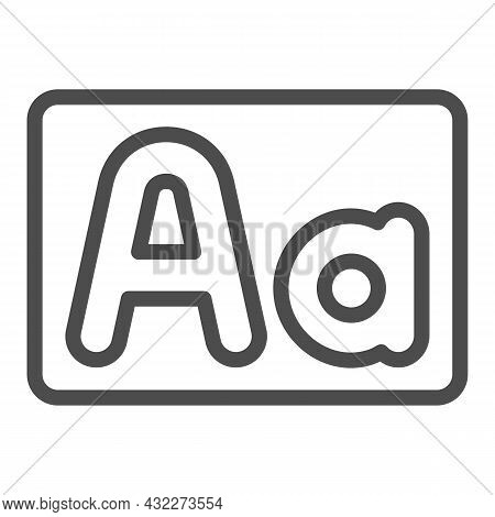 Capital And Small Letter A, Upper And Lower Case Line Icon, Letters Concept, Alphabet Vector Sign On