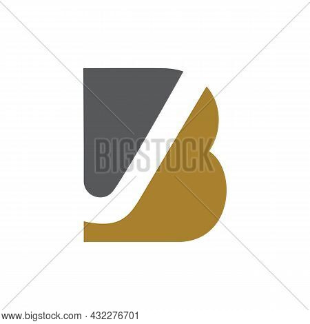 Letter B Stylish Logo Icon Flat Vector Concept Graphic Simple Stylish Design