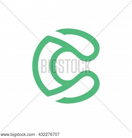 Letter C Stylish Logo Icon Flat Vector Concept Graphic Simple Stylish Design