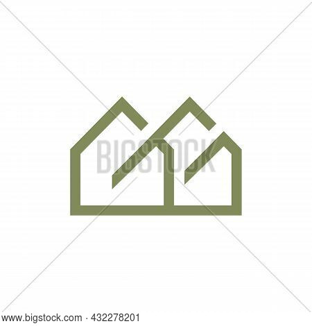 Residence Real Estate Home Logo Icon Flat Vector Concept Graphic Simple Stylish Design