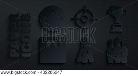 Set Badminton Shuttlecock, Award Cup, Bathroom Scales, Bowling Pin, Target Sport And Baseball Ball I