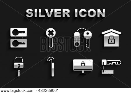 Set Crowbar, House Under Protection, Marked Key, Lock Computer Monitor, Picks For Lock Picking, With