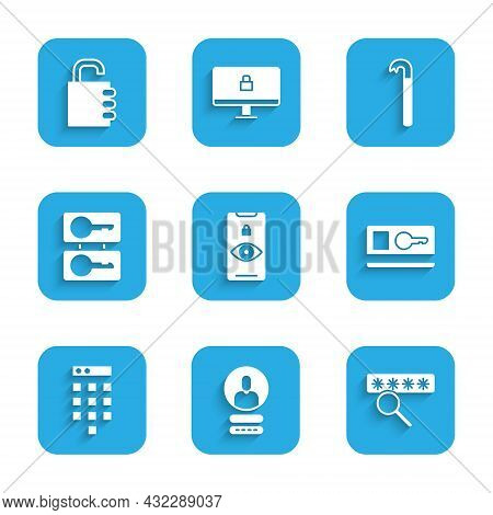 Set Eye Scan, Create Account Screen, Password Protection, Key Card, Casting Keys, Crowbar And Safe C