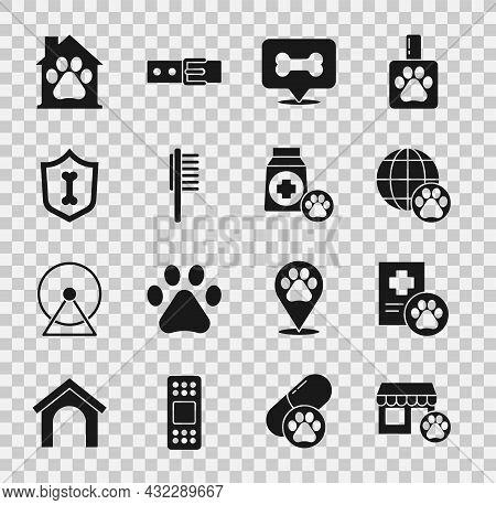 Set Veterinary Hospital, Clinical Record Pet, World, Dog Bone, Pets Vial Medical, Animal Health Insu