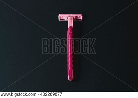 Removal Of Unwanted Hair, Concept. Disposable Shaving Machine For Women.