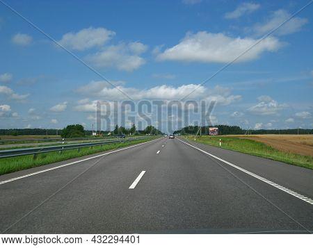 The Road To Kaunas City, Lithuania, Europe