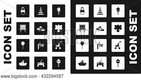 Set Toy Horse, Building Block Bricks, Chalkboard, Tumbler Doll Toy, Puzzle Pieces, Pyramid, Baby Str