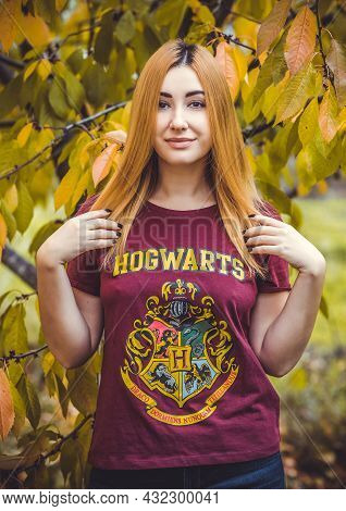Halloween Party Ideas, People Outfit. Girl From School Of Wizards And Magic Hogwarts - 24 October. E