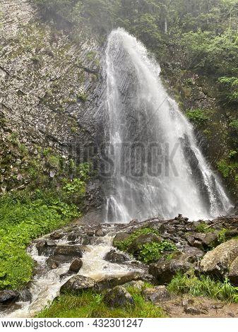Queureuilh waterfall, Le Mont-Dore, Puy-de-Dome, Auvergne, France