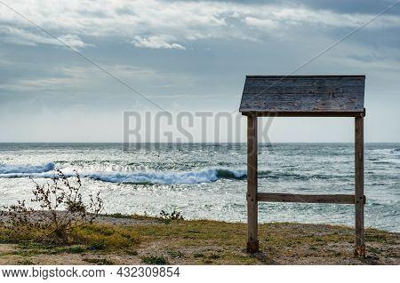 Spanish Beach. Cala Reona In Cabo De Palos. Mediterranean Sea Landscape, Coast In Murcia Region. Tou