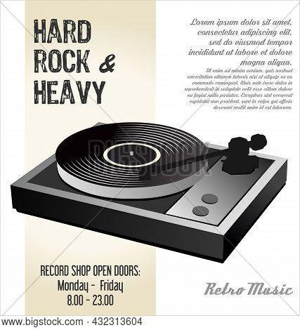 Gramophone Vinyl Lp Record Illustration Background 005.eps