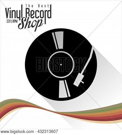 Gramophone Vinyl Lp Record Illustration Background 004.eps