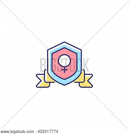 Feminist Organization Rgb Color Icon. Protecting Women Rights. Advancing Gender Equality. Achieve So