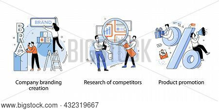 Company Branding Creation. Team Build New Brand. Promotion Campaign. Competitor Search And Analysis.