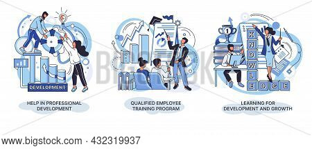 Help In Professional Development. Qualified Employee Training Program. Learning For Software Develop