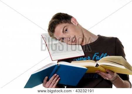 a young student when learning with books