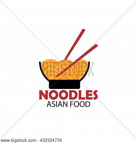 Noodle Design Logo Restaurant. Noodle Japanese Resto Logo Vector
