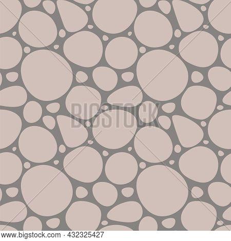 Seamless Pattern Imitation Of Rock Surfaces Masonry. Stones Background Vector Illustration