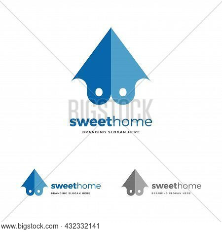 Sweet Home Is A Unique Logo, Perfect For A Housing Company,  Hotels, Motels, Resort And Apartment Sa