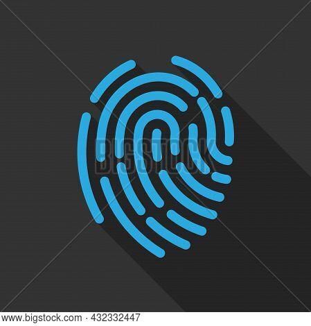 Abstract Fingerprint Symbol Or Icon, Vector Illustration