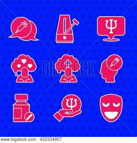 Set Man Graves Funeral Sorrow, Psychology, Psi, Comedy Theatrical Mask, Addiction To Drug, Sedative