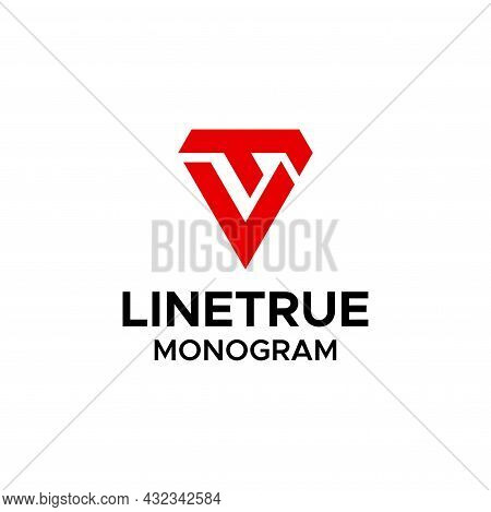 Bold And Geometric Logo About The Letters L And T In A Triangle. Eps 10, Vector.