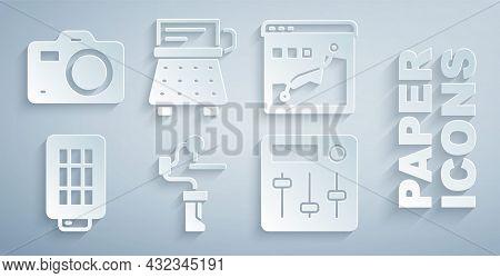 Set Gimbal Stabilizer For Camera, Histogram Graph Photography, Softbox Light, Sound Mixer Controller