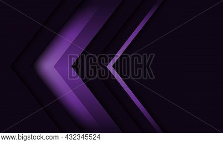 Abstract Violet Arrow Direction Geometric Shadow On Grey With Blank Space Design Modern Futuristic B