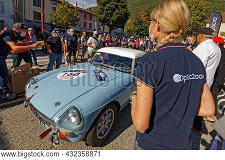 Vif, France, September 2, 2021 : Tour Auto Optic 2000 Third Stage Point Of Control. A Veritable Open