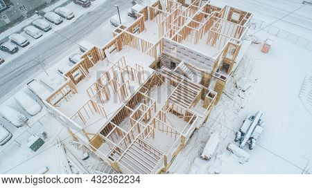 Nampa, Idaho - February 13 2021: New Apartment Constuction To Keep Up With Rising Demand For Living
