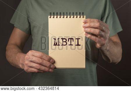 Mbti Word Acronym. Personality Typology. Psychology Test.