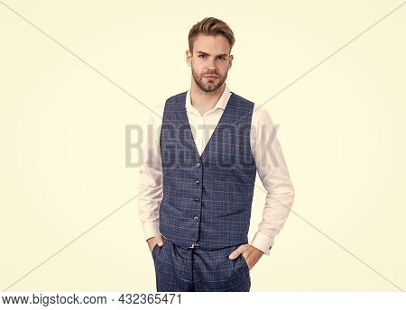 Its Classy Enough. Business Professional Isolated On White. Professional Man. Classic Look