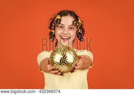 Saturday Night And Disco Ball. Baby Shower Party. Lets Have Fun On Retro Party. Disco Ball Decoratio
