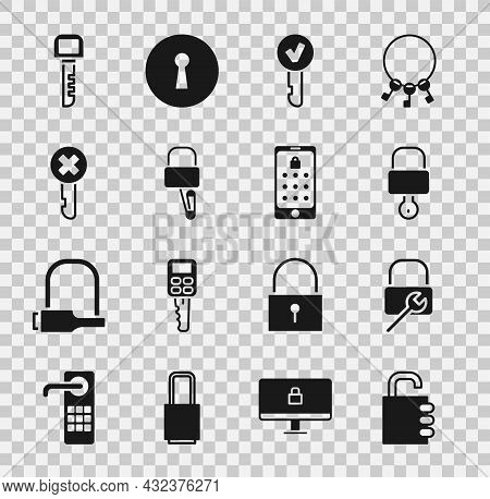 Set Safe Combination Lock, Lock Repair, And Key, Key, Picks For Picking, Wrong, And Mobile Graphic P