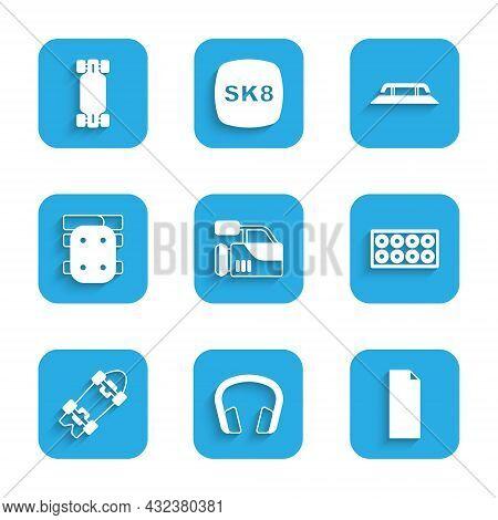 Set Cinema Camera, Headphones, Grip Tape Skateboard, Skateboard Wheel, Longboard Or, Knee Pads, Stai