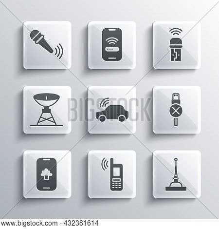 Set Mobile With Wi-fi Wireless, Antenna, No Usb Cable Cord, Smart Car System, Cloud Technology Data,