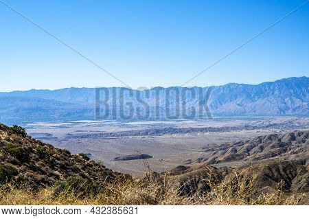 An Overlooking View Of Nature In Joshua Tree National Park, California