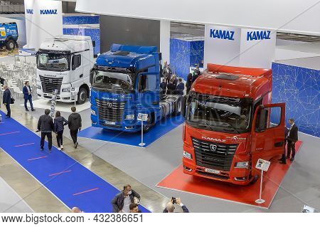 The Two-axle Semi-trucks Kamaz-54901. The Stand Of The Kamaz Plant At The International Exhibition O