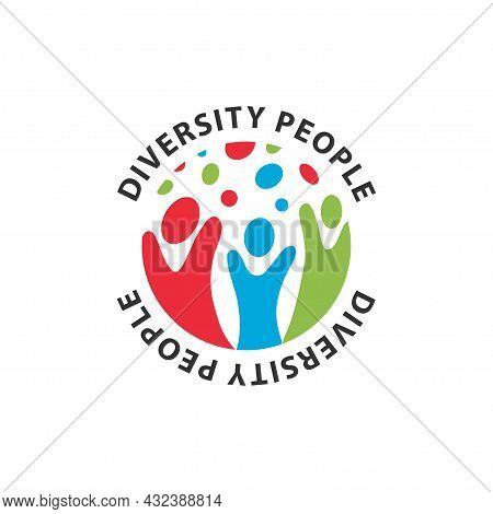 Abstract Logo Diversity And Togetherness Of Social People. Social Team Logo Icon. Social Diversity,
